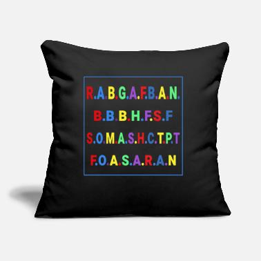 "Hepatitis B-liver Cancer-hbv-breast Cancer R.A.B.G.A.F.B.A.N.B.B.B.H.F.S.F S.O.M.A.S.H.C.T. - Throw Pillow Cover 18"" x 18"""