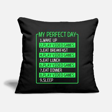 "Video video games - Throw Pillow Cover 18"" x 18"""