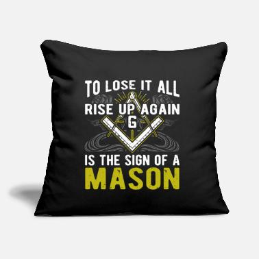 "Secret Society To Lose It All Rise Up Again Freemasonry Masonic - Throw Pillow Cover 18"" x 18"""