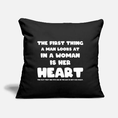 "Macho Men humor funny sex saying sexist macho - Throw Pillow Cover 18"" x 18"""