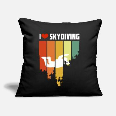 "Hobbyists I Love Skydiving Retro Edition - Throw Pillow Cover 18"" x 18"""