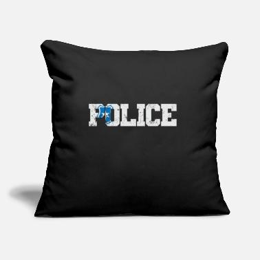 "Arrested Police Badge Police - Throw Pillow Cover 18"" x 18"""