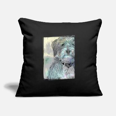 "Cute Terrier Vintage Style - Throw Pillow Cover 18"" x 18"""