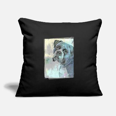 "Cute Boxer Vintage Style - Throw Pillow Cover 18"" x 18"""