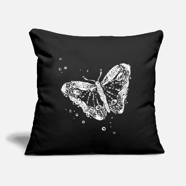 "Water Droplets Butterfly Water Droples Summer Holiday - Throw Pillow Cover 18"" x 18"""