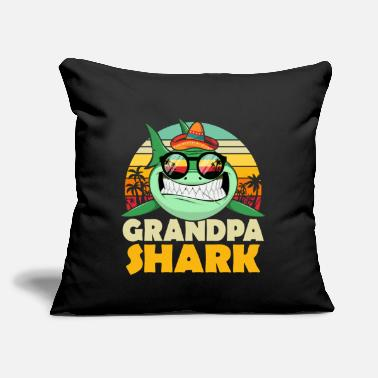 "Shark Grandpa Shark T-shirt for Father's Day / Birthday - Throw Pillow Cover 18"" x 18"""