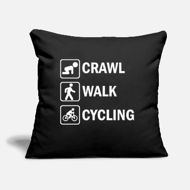 "Cycle Cycling Funny Cycling - Throw Pillow Cover 18"" x 18"""