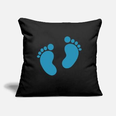 "Baby Feet Baby feet - Throw Pillow Cover 18"" x 18"""
