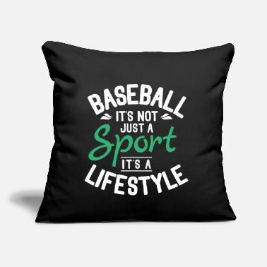 "Baseball Cool Funny Comic Typography Baseball Quotes Gifts - Throw Pillow Cover 18"" x 18"""