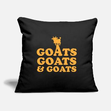 "Goat GOATS GOATS and GOATS - Throw Pillow Cover 18"" x 18"""