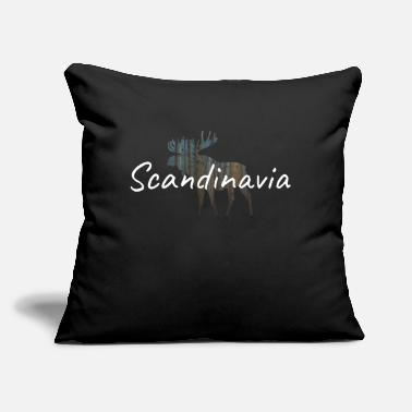 Scandinavia moose scandinavia - Throw Pillow Cover