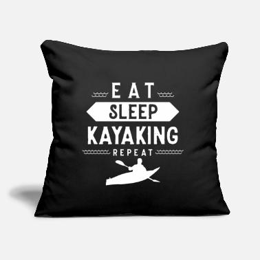 "Kayak Kayak Kayakers Kayaker Kayaking Kayaks - Throw Pillow Cover 18"" x 18"""