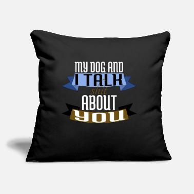 "Rescue dogs designs dogfather crazy dog lady humor - Throw Pillow Cover 18"" x 18"""