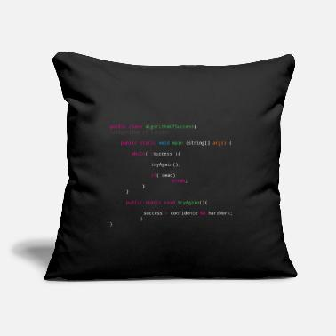 "Programming Source code to success - software sports wealth - Throw Pillow Cover 18"" x 18"""