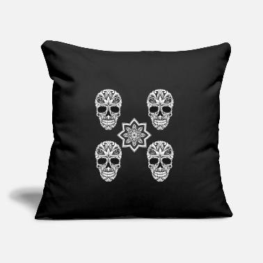 "Skull Skull Skull - Throw Pillow Cover 18"" x 18"""