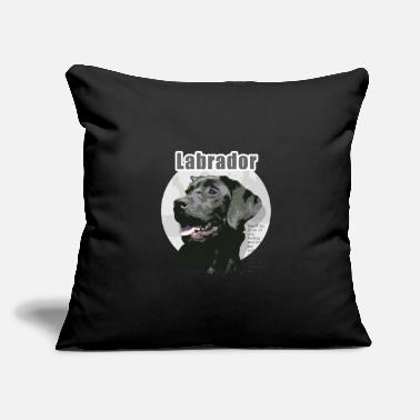 "Black Labrador Dog black Labrador retriever Dog - Throw Pillow Cover 18"" x 18"""