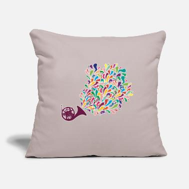 "Instrument Horn instrument - Throw Pillow Cover 18"" x 18"""