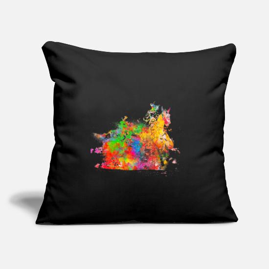 "Western Pillow Cases - Riding western - Throw Pillow Cover 18"" x 18"" black"
