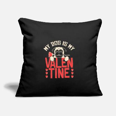 "Valentine's Day Dog Valentine's Day - Throw Pillow Cover 18"" x 18"""