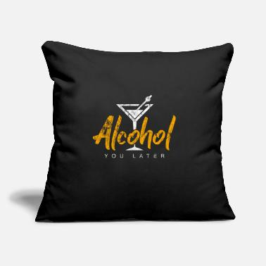 "Alcohol Alcohol - Throw Pillow Cover 18"" x 18"""