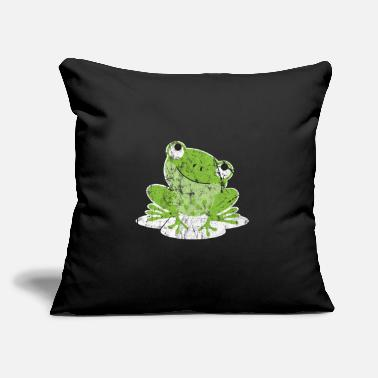 "Frog Frog - Throw Pillow Cover 18"" x 18"""