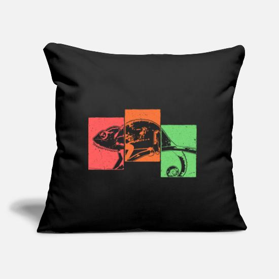 "Nostalgia Pillow Cases - Pet Retro - Throw Pillow Cover 18"" x 18"" black"
