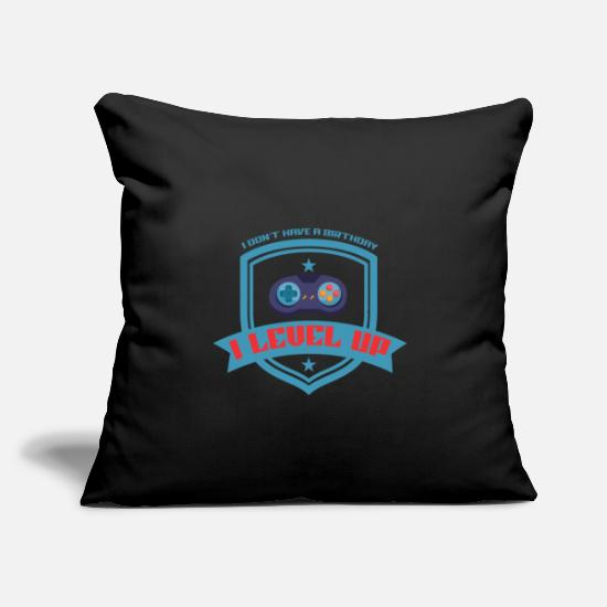 "Console Pillow Cases - Gamer - Throw Pillow Cover 18"" x 18"" black"