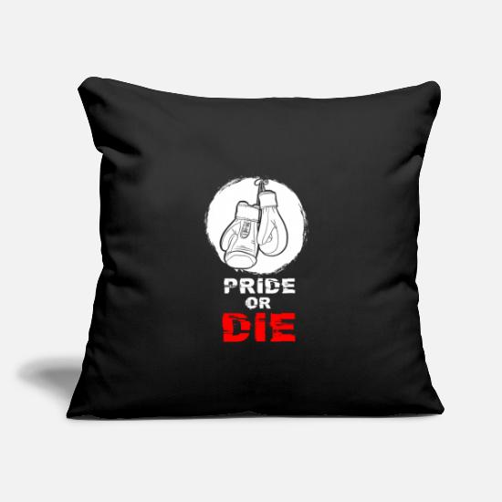 "Ring Pillow Cases - Boxing - Throw Pillow Cover 18"" x 18"" black"