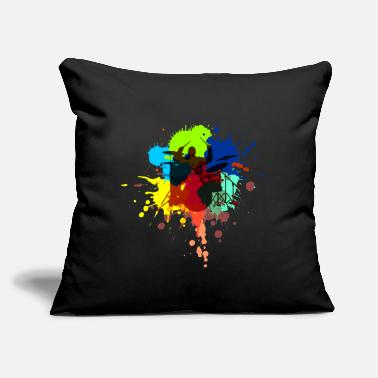 "Musician Musician Drummer Gift for Drummer drums - Throw Pillow Cover 18"" x 18"""