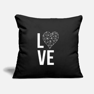 "Love With Heart Love with heart - Throw Pillow Cover 18"" x 18"""