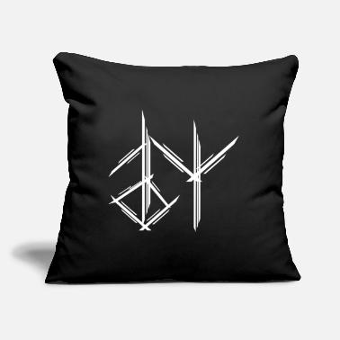 "Medieval Viking Runes Icons Weapons Ax Warrior Odin - Throw Pillow Cover 18"" x 18"""