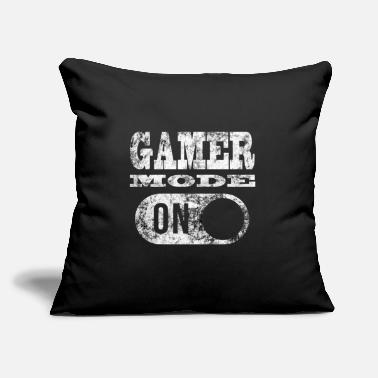 "Mode GAMER MODE ON - Throw Pillow Cover 18"" x 18"""