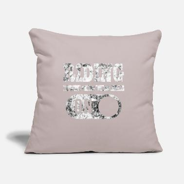 "Mode RIDING MODE ON - Throw Pillow Cover 18"" x 18"""