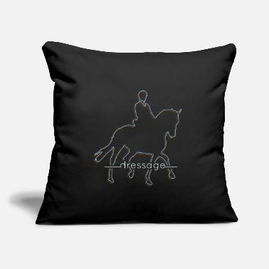 "Dressage Horse dressage horses - Throw Pillow Cover 18"" x 18"""