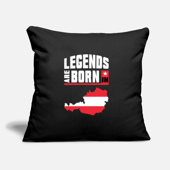"Patriot Pillow Cases - Legends are born in Austria / Gift Österreich - Throw Pillow Cover 18"" x 18"" black"