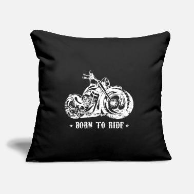 "Hard Rock Biker Gang Motorcycle Club Rock Festival Gift - Throw Pillow Cover 18"" x 18"""