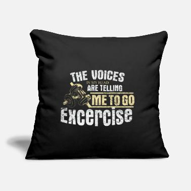 "Body Fitness Lifting - Throw Pillow Cover 18"" x 18"""