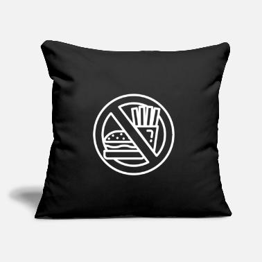 "Fast Food No fast food - Throw Pillow Cover 18"" x 18"""