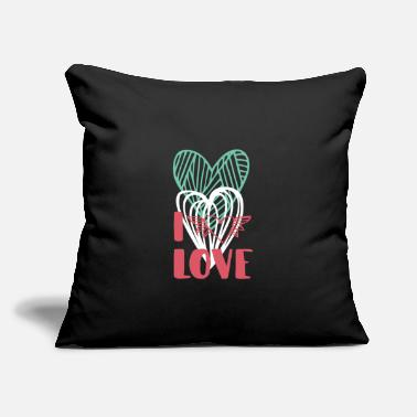 "I Love I love - Throw Pillow Cover 18"" x 18"""
