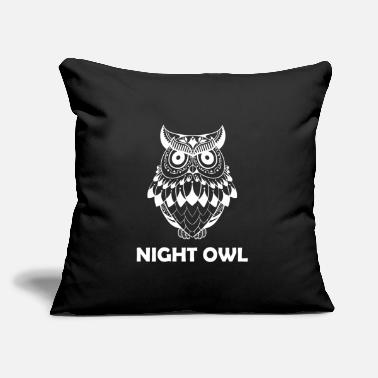 "Night Owl night owl - Throw Pillow Cover 18"" x 18"""