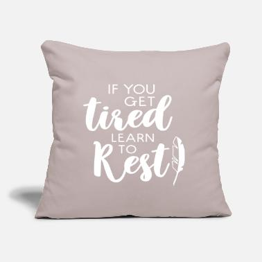"Rest Rest - Throw Pillow Cover 18"" x 18"""