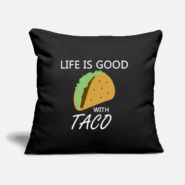 "Addiction Food Gift Idea - Throw Pillow Cover 18"" x 18"""
