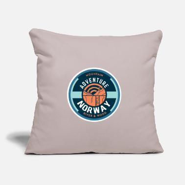 "Norway norway norway adventure - Throw Pillow Cover 18"" x 18"""