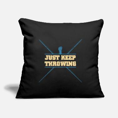 "Primitive Man Javelin Thrower Sports - Throw Pillow Cover 18"" x 18"""