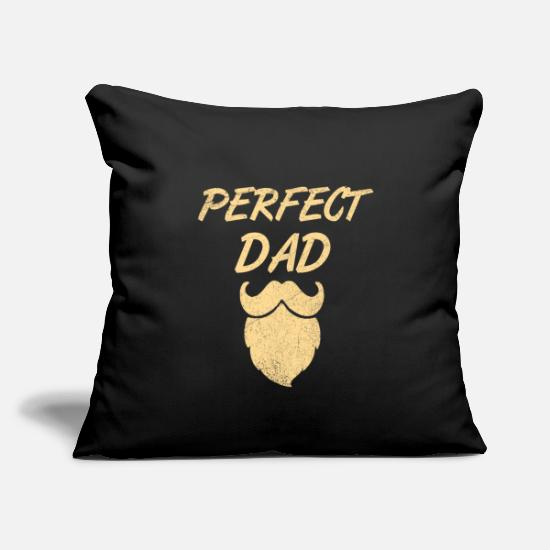 "Black Pillow Cases - Father - Throw Pillow Cover 18"" x 18"" black"