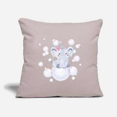 "Energetic Elephant – be energetic - Throw Pillow Cover 18"" x 18"""