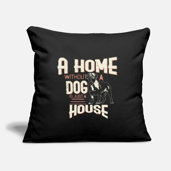 "Hamster Pillow Cases - Dog Pet - Throw Pillow Cover 18"" x 18"" black"