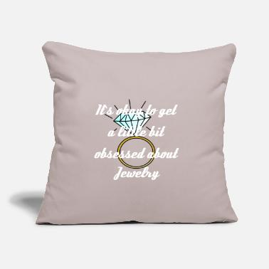 "Jewelry Jewelry - Throw Pillow Cover 18"" x 18"""