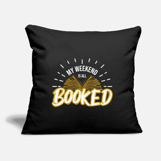 "Gift Idea Pillow Cases - Books - Throw Pillow Cover 18"" x 18"" black"