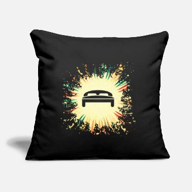 "Bed bed - Throw Pillow Cover 18"" x 18"""